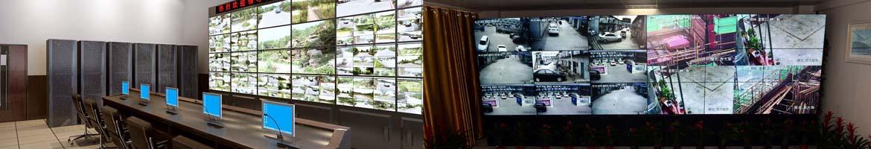 监控中心机房实拍图监控工程