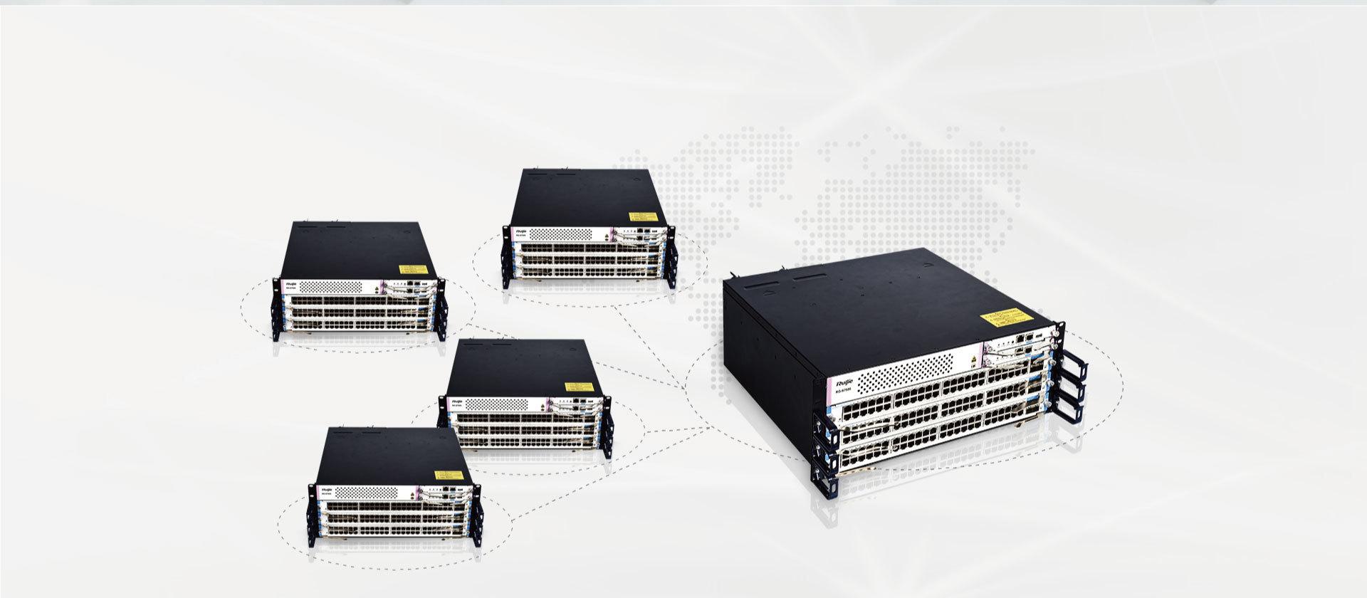 锐捷睿易模块化核心交换机RG-S7505-4