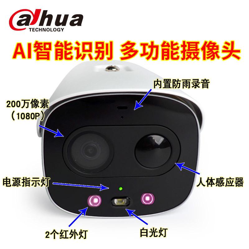 大华声光警戒红外高清摄像机DH-IPC-HFW7243G警戒枪细节1