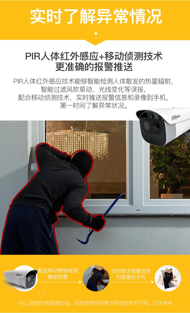 大华声光警戒红外高清摄像机DH-IPC-HFW7243G警戒枪4